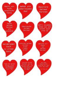 Brettspiel für Verliebte - Karten Teil 3
